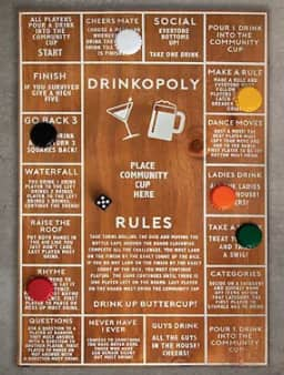 Hammer + Axe Wood Drinkopoly Board Game $8 + 6% Slickdeals Cashback + Free Store Pickup at Macy's or FS on $25+