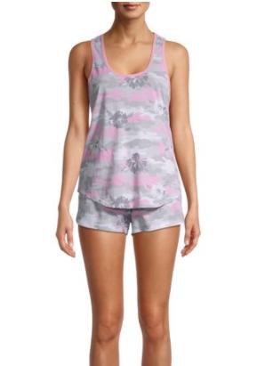 2-Piece Secret Treasure's Women's Graphic Print Tank & Shorts Pajama Set (various) $10 + FS w/ Walmart+ or FS on $35+