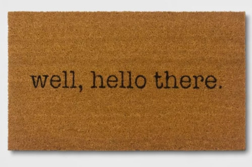 """16"""" x 28"""" Room Essentials Well, Hello There Doormat $6 & More + Free Store Pickup at Target"""