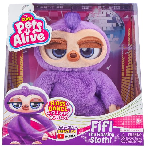 """11"""" Pets Alive Fifi the Flossing Sloth w/ Sounds & Movement $7.50 + Free Store Pickup at Walmart or Target or FS w/ Walmart+ or on $35+"""