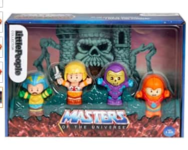 Amazon Prime Members: 4-Pc Fisher-Price Little People Masters of The Universe Figure Set (He-Man, Skeletor, Man-At-Arms & Beast Man) $9.50 & More + Free Shipping