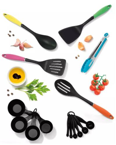 15-Piece Cuisinart Curve Kitchen Tool Set $15 + 15% Slickdeals Cashback + Free Store Pickup at Macys or FS on $25+