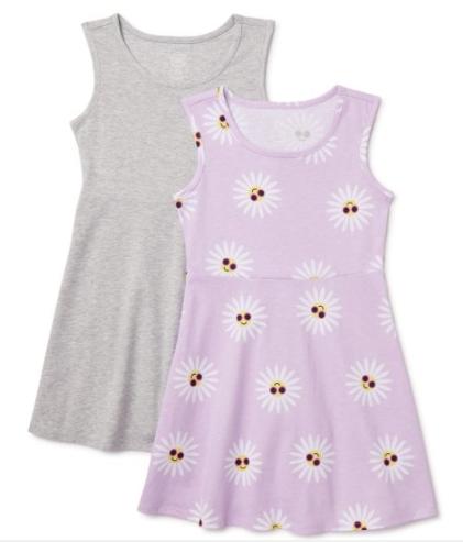 2-Count Wonder Nation Girls' Sleeveless Play Dresses (various) $5.95 ($2.96 Each) + FS w/ Walmart+ or FS on $35+