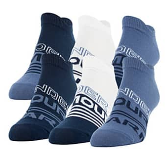 6-Pk Under Armour Women's Mineral Blue Essential No-Show Socks (size 6-9) $7.93 + 6% Slickdeals Cashback + Free Store Pickup at Macys or FS on $25+