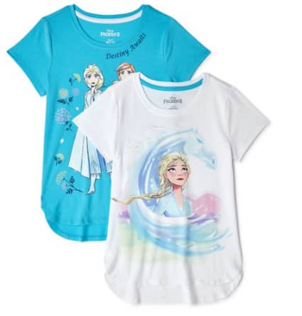 2-Pack Girls' Graphic T-Shirts or Tank Tops: Frozen 2, L.O.L. Surprise! or Jojo Siwa $6.60 ($3.30 Each) & More + FS w/ Walmart+ or FS on $35+