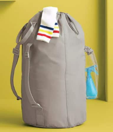 Room Essentials Backpack Laundry Bag w/ Pocket (gray) $6 + Free Store Pickup at Target or FS on $35+