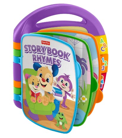 Fisher-Price Laugh & Learn Storybook Rhymes Musical Book w/ 6 Sing Along Nursery Rhymes $7.50 + FS w/ Walmart+ or FS on $35+