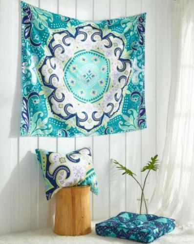 "3-Pc Mainstays Bedroom Dorm Décor Set w/ 50"" x 60"" Tapestry, 22"" x 22"" Floor Cushion & Sham $12.27 + FS w/ Walmart+ or FS on $35+"