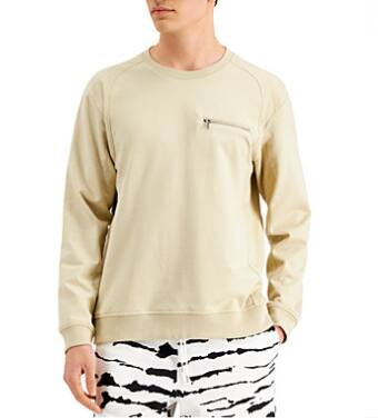INC Men's Slant Zip Long-Sleeve T-Shirt (sand) $10.96, Dickies Women's Cropped Tie-Dyed T-Shirt $6 & More + 6% SD Cashback + Free Store Pickup at Macys or FS on $25+