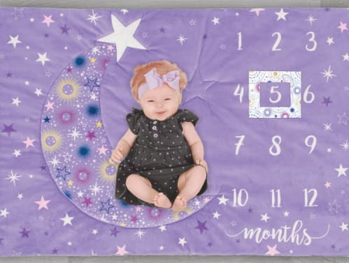 Little Feet Boutique Celestial Baby Monthly Milestone Plush Mat Craft Kit $2.97 + FS w/ Walmart+, FS on $35+ or Free Store Pickup at Walmart