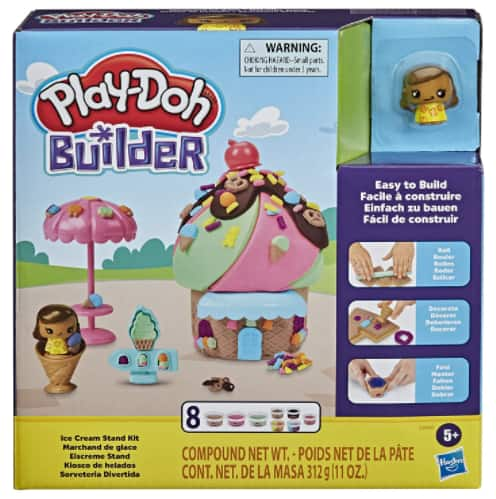Play-Doh Builder Ice Cream Stand Toy Building Kit w/ 8 Play-Doh Cans & Accessories $5 + Free S/H w/ Amazon Prime, FS on $25+ or FS w/ Walmart+, FS on $35+