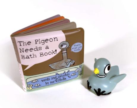 The Pigeon Needs a Bath Children's Bath Book w/ Pigeon Bath Toy $8.92 + FS w/ Amazon Prime or FS on $25+