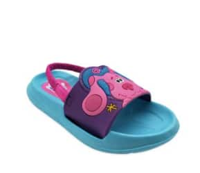 Toddler Girls' Character Slide Sandals w/ Strap: Blue's Clues $4, Paw Patrol or Little Mermaid $5.60 & More + FS w/ Walmart+ or FS on $35+