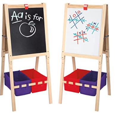 Cra-Z-Art Kids' 3-in-1 Standing Easel w/ Chalk Board, Dry Erase Board & Storage Bins $24.97 + FS w/ Walmart+ or FS on $35+
