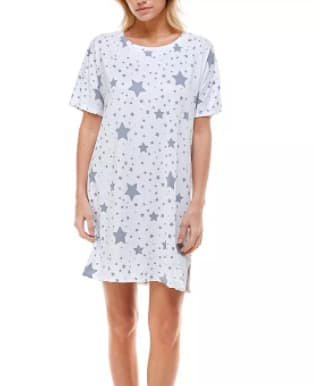 Roudelain Women's Short Sleeve Sleep Shirts (various) $9.93 & More + 6% SD Cashback + Free Store Pickup at Macy's or FS on $25+