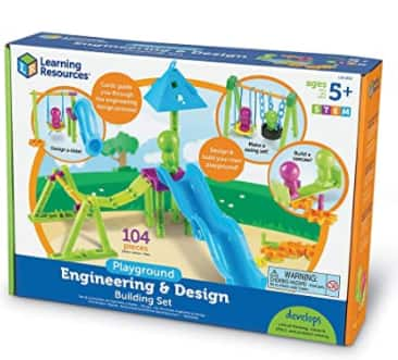 104-Pc Learning Resources Playground Engineering & Design STEM Building Set $12.87 + FS w/ Amazon Prime or FS on $25+