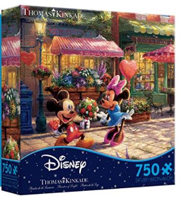 750-Pc Ceaco Thomas Kinkade Disney Dreams, Mickey & Minnie Sweetheart Café Jigsaw Puzzle $6.75 + FS w/ Amazon Prime or FS on $25+