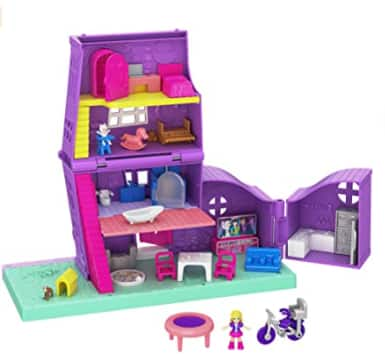 Polly Pocket Pollyville Pocket House Playset w/ Accessories $10 + FS w/ Amazon Prime or FS on $25+