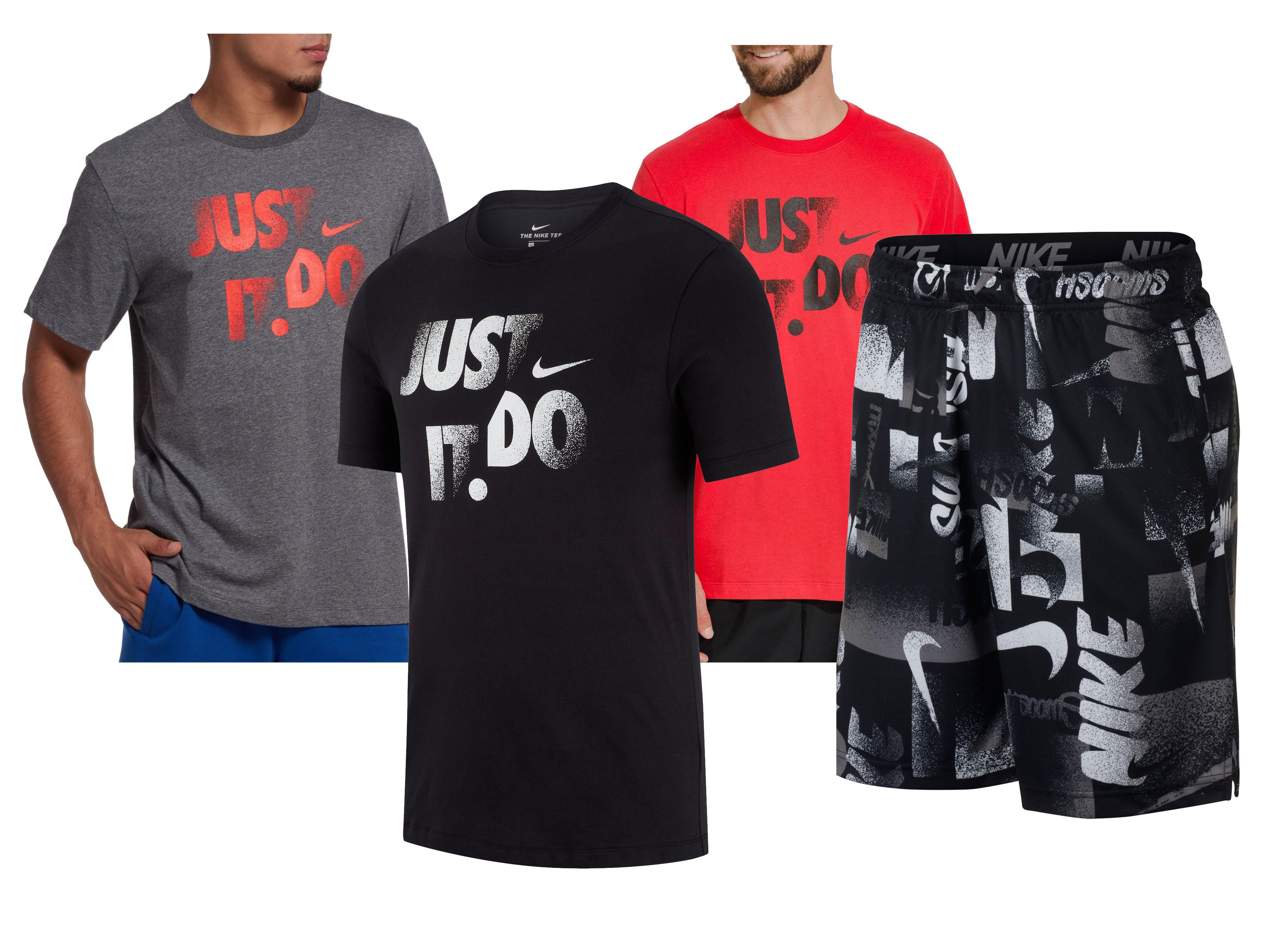 Nike Men's: Dry Print Shorts + 3-Ct Dri-Fit Graphic Tees $40.88 + Free Shipping ($10.22 each)