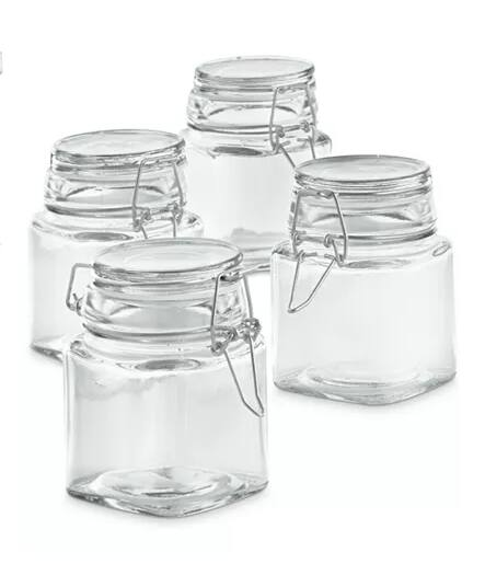 4-Piece 7-Oz Martha Stewart Mini Canisters $7 + free store pickup at Macy's
