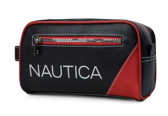 Nautica: Men's Core Pebbled Travel Kit $8.50, Select Men's Sweaters $20.39 + free shipping on $50+