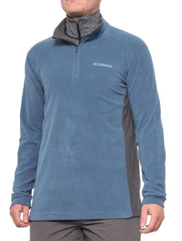 Columbia Sportswear Men's Pine Ridge Zip Neck Fleece Jacket (whale/shark) $17 + free shipping