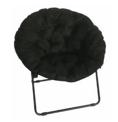 Round Padded Microfiber Dish Chair (black) $10 + free ship to store at True Value