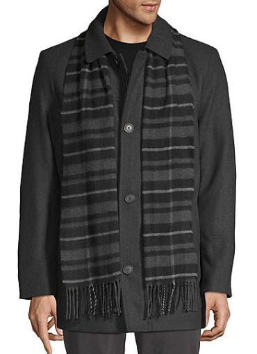 Dockers Wool Blend Coat & Scarf Set (various) $52.50 & More + free shipping