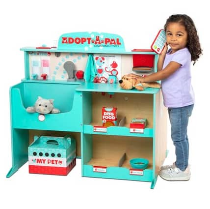 Melissa & Doug Adopt-a-Pal Deluxe Vet & Groomer Wooden Activity Center w/ 49+ Accessories + $20 Kohl's Cash $97.75 + Free Shipping