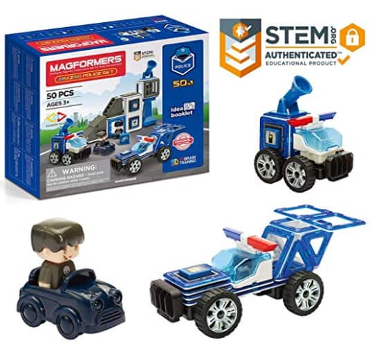 50-Piece Magformers Amazing Police Wheels Tiles Building Stem Toy $18 + Free Shipping