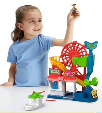 Fisher Price Disney Pixar Toy Story 4 Carnival Playset w/ Woody & Ducky $ 17 + Free Shipping w/ Prime