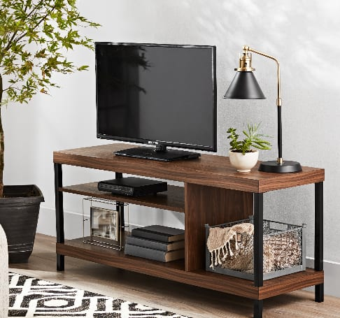 """Mainstays Sumpter Park Collection Media TV Stand for TVs up to 42""""(various) $39.15 + Free Shipping"""
