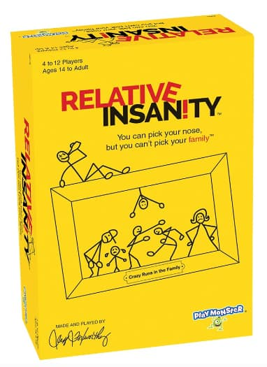 Relative Insanity Adult Party Game (made & played by comedian Jeff Foxworthy) $9.12 + Free Store Pickup at Walmart or Free Ship w/ Prime