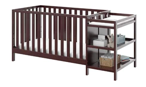 Storkcraft Pacific 4-in-1 Convertible Crib & Changer (espresso) $110 + Free Shipping