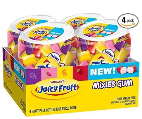 4-Pack of 40-Count Juicy Fruit Sugar Free Mixies Gum (Fruity Variety Pack) $5.40 w/ S&S + Free Shipping