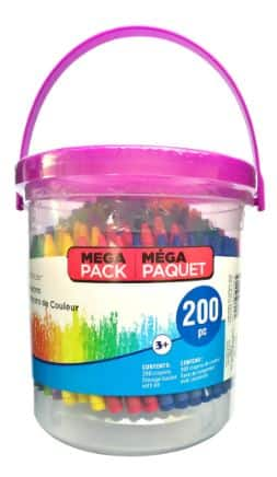Craft Supplies: 200-Piece Crayon Bucket or 100-Piece Marker Bucket