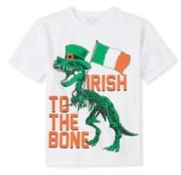 Children's Place: 50% Off Sitewide Sale: Big Girls' Lucky Graphic Tee $3, Big Boys' Irish Dino Graphic Tee $3 & More + Free Shipping