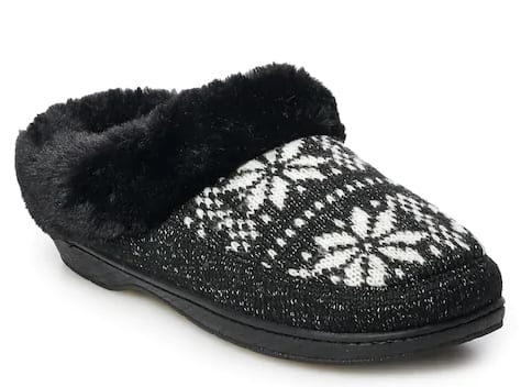 Kohl's Cardholders: Women's Sonoma Goods For Life Slippers: Fairisle Mock Toe Clog Slippers (various) $7.84, Microsuede Moccasin Slippers (various) $8.40 & More + Free S/H