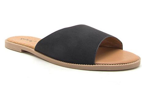 Women's Sandals: Qupid Desmond-22x Slide Sandals (various) $6.40, Pop Capri Footbed Sandals (various) $8.65 & More + Free Ship to JCP on $25+