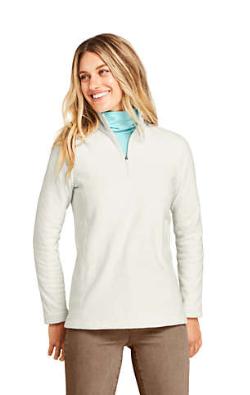 "Lands' End Women's Print Quarter Zip Fleece Pullover Top (various) $9.60, 50"" x 70"" Plush Fleece Throw Blanket (various) $6 & More + Free Shipping"