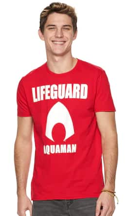 Kohl's Cardholders: Men's & Women's Graphic Tees: Men's Aquaman Lifeguard Tee $4.20, Men's Star Wars Graphic Long Sleeve Tee (various) $7 & More + Free S/H