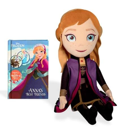 "Kohl's Cardholders: Disney's Frozen 2: 10"" Anna Plush & Book Bundle (Kohl's Cares) $4.50, Women's Fuzzy Babba Gripper Slipper Socks $5.04 & More + Free S/H"