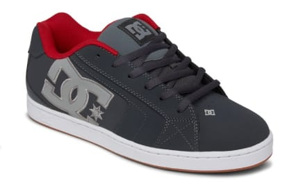 DC Men's Net Shoes (grey/red) $21.69, DC Kids' Lynnfield Shoes (grey/dark navy) $17.50, DC Men's Scrib Tees (2 colors) $7 & More + Free S/H