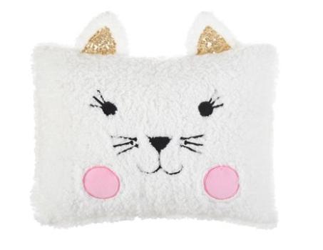 American Kids Sherpa Pillow (Kitty, Fox or Penguin) $5 Each, Drew Barrymore Flower Kids Pillow (Alligator or Rainbow) $5 Each & More + Free S/H on $35+