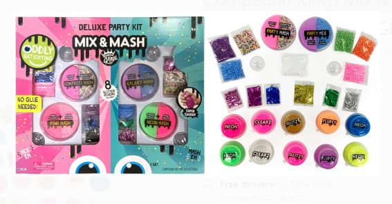 Compound Kings Slime Kits: Mix & Mash Super Ultimate Deluxe Party Slime Kit $8.88, Slime Mix & Mash Kit w/ Glitzy $9.88 & More + Free Shipping on $35+