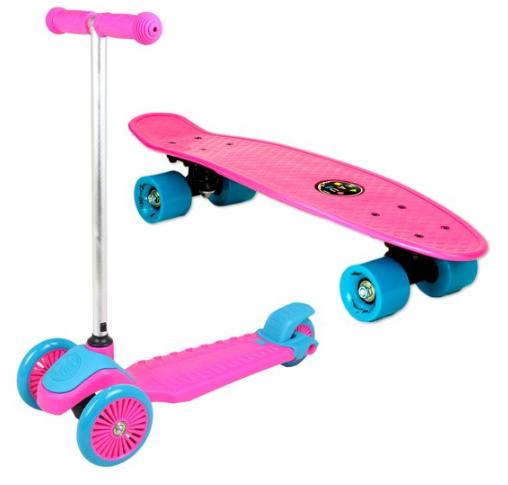 Maui and Sons Mini Sharkman Scooter & Skateboard Combo Set (2 colors) $24.88 + Free S/H on $35+