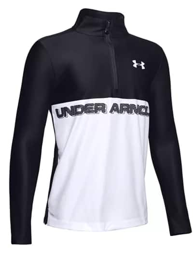 Under Armour Big Boys' Apparel: 1/2 Zip Pullover (various) $13.93, Tech Half-Zip Training Shirt (blue ink) $14.70, Rival Hoodie (2 colors) $15.93 & More + Free S/H on $25+