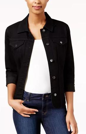 Charter Club Women's Petite Denim Jacket (black) $11.93, Michael Kors Women's Cotton Denim Jacket (blue wash) $29.40 & More + Free S/H on $25+