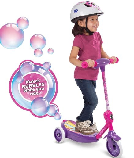 Huffy Kids' Disney Princess 6V 3-Wheel Electric Ride-On Bubble Scooter w/ Wall Charger & 4 oz Bubble Solution $29 + Free Shipping on $35+