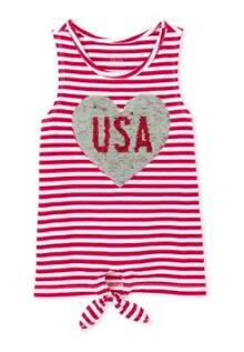 Children's Place: Girls' Americana USA Tie Front Tank Top (2 colors) $2, Baby/Toddler Girls' USA Tank Top $2, Girls' Headbands (various) From $1 & More + Free S/H
